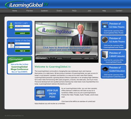 home page of iLearning Global TV
